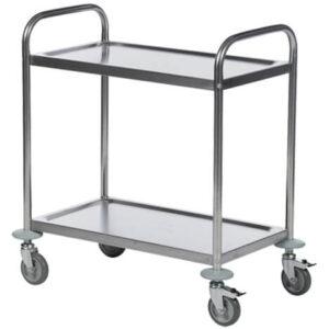 Serveringsvagn i rostfritt stål